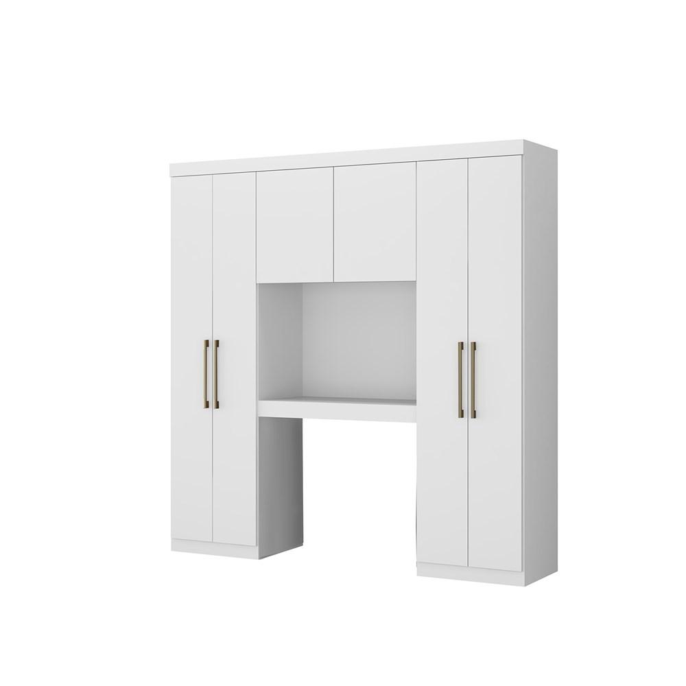 Guarda-Roupas Porto 6 Portas Branco Móveis Carraro