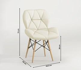 Kit 2 Cadeiras Eiffel Slim Estofada Bege Notável
