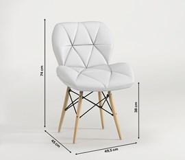 Kit 2 Cadeiras Eiffel Slim Estofada Branca Notável