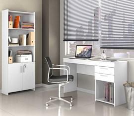 Kit para Escritório Office 2 Peças CAB Branco Notável Móveis