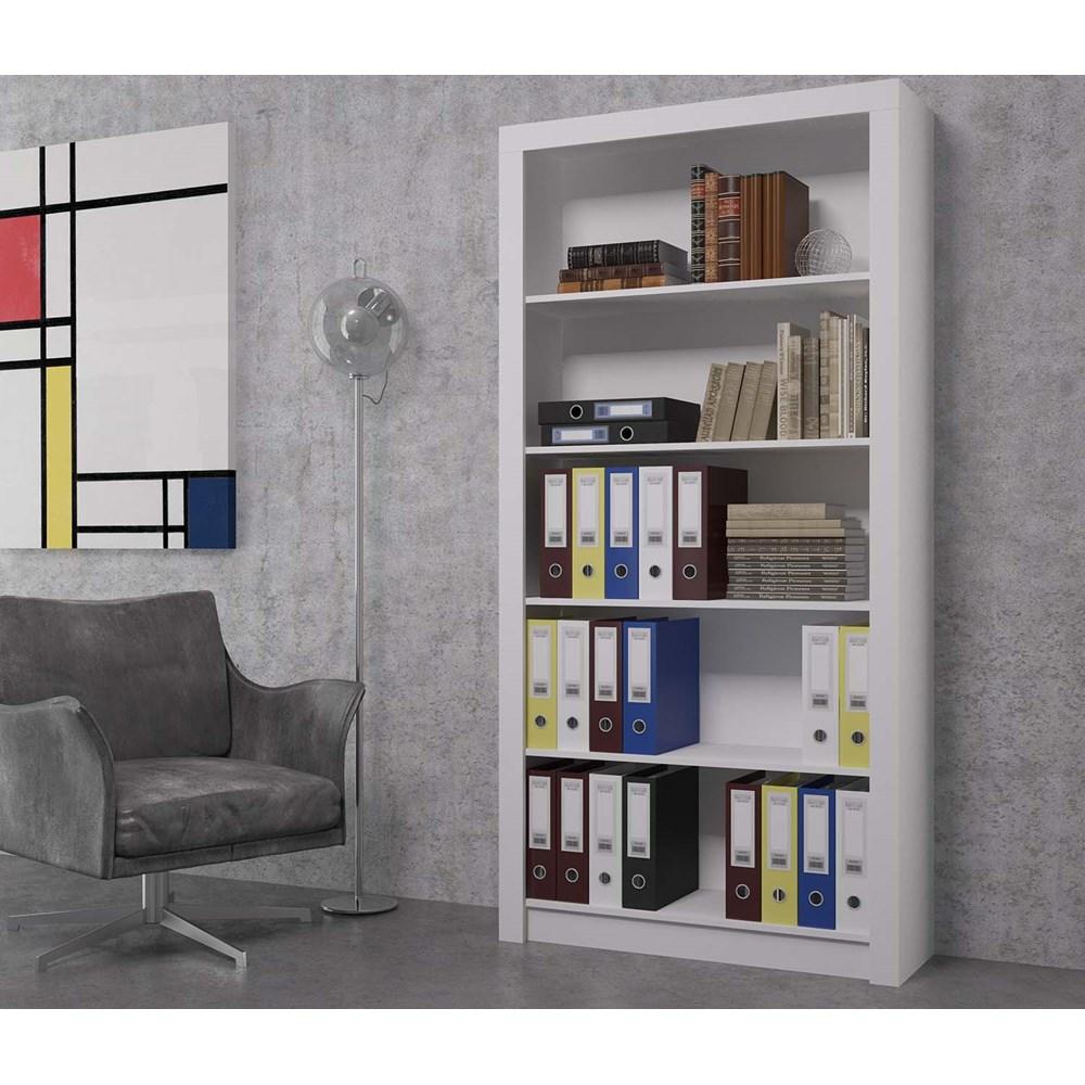 Livreiro Frame Bl01 Branco Brv Móveis