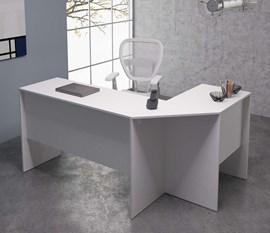 Mesa De Canto Office BHO08 Branco BRV Móveis