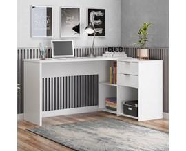 Mesa de Canto para escritório Branco NT2060 Notável Móveis