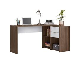Mesa de Canto para escritório Nogal com Branco NT2060 Notável Móveis