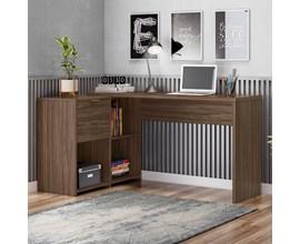 Mesa de Canto para escritório Nogal NT2060 Notável Móveis