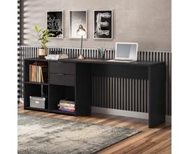 Mesa de Canto para escritório Preto NT2060 Notável Móveis