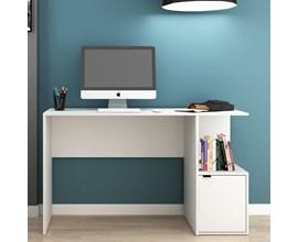 Mesa de Computador Bc 75 Branca com 1 Porta Brv Móveis