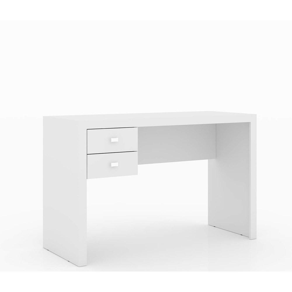 Mesa de Escritório 2 Gavetas Me4123 Branco Tecno Mobili