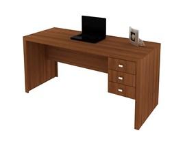 Mesa de Escritório 3 Gavetas Me4113 Amêndoa Tecno Mobili