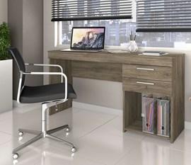 Mesa de Escritório Office 2 gavetas Canela Notável Móveis