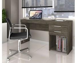 Mesa de Escritório Office 2 gavetas Ébano Notável Móveis