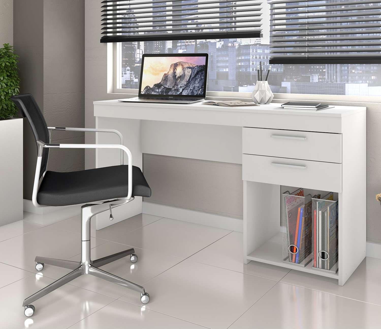 Mesa de Escritório Office Branco New Notável Móveis