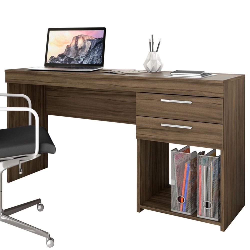 Mesa de Escritório Office Nogal Trend Notável Móveis