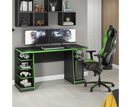 Mesa Gamer Nt 2020  Preto e Verde Notável Móveis