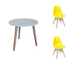 Mesa Infantil Com 2 Cadeiras Eiffel Infantil Amarela Casa Aberta Brasil