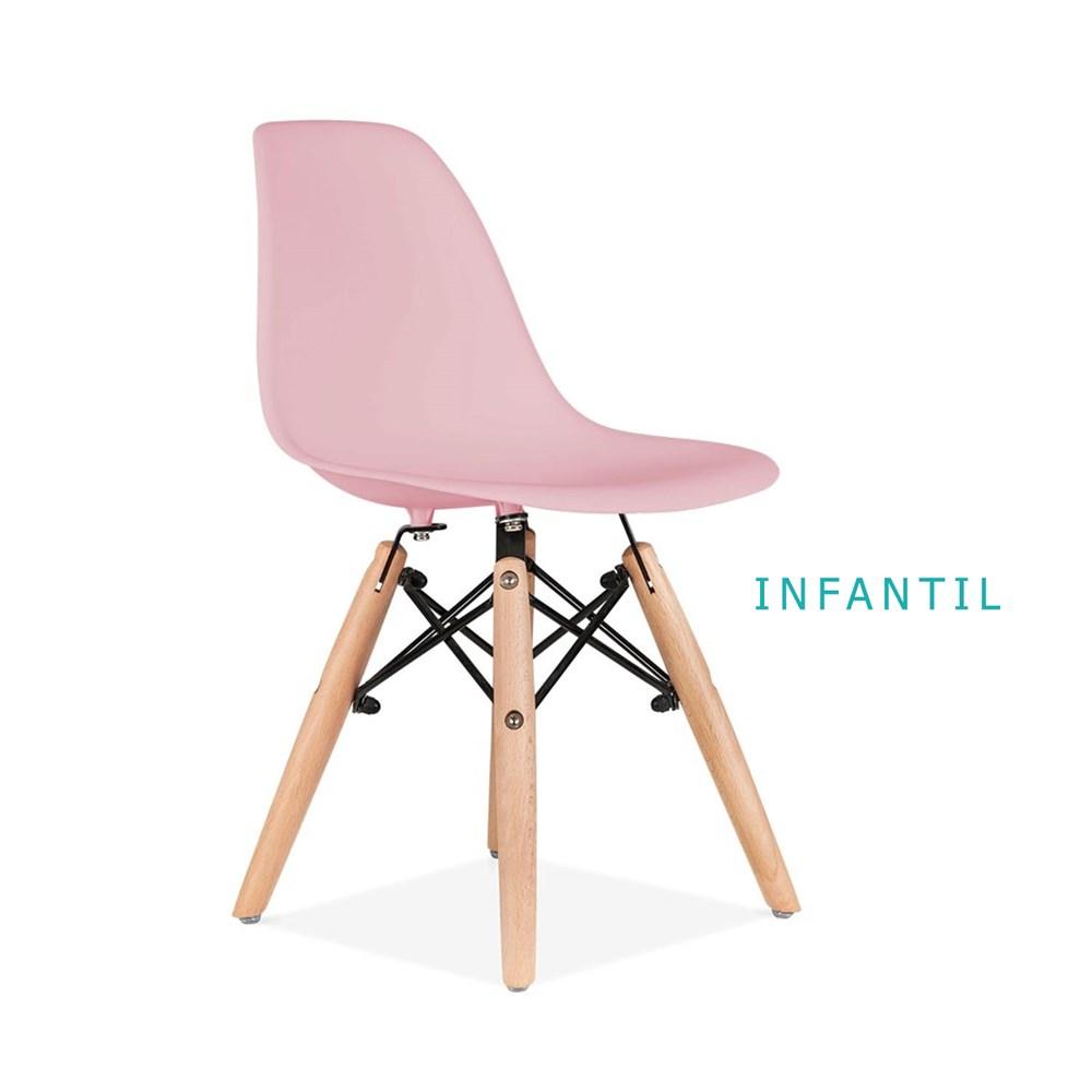 Mesa Infantil com 2 Cadeiras Eiffel Infantil Azul e Rosa Casa Aberta Brasil