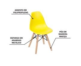 Mesa Infantil Preta com 2 Cadeira Eiffel Amarela Casa Aberta Brasil