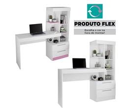Mesa Office Nt 2010  Branco New Notável Móveis