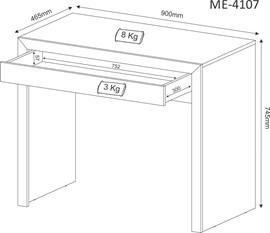 Mesa para Computador ME4107 Tabaco Tecno Mobili
