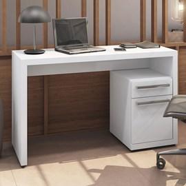 Mesa para Escritório com 1 Porta e 1 Gaveta Branca S970 Kappesberg