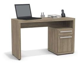 Mesa Para Escritório com 1 Porta e 1 Gaveta Nogal S970 Kappesberg