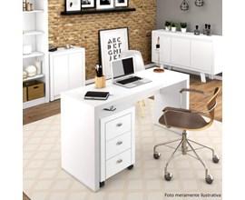 Mesa para escritório ME4109 e Gaveteiro ME4108 Branco Tecno Mobili