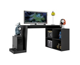 Mesas Para Computador Gamer Bmg 03 Preta Brv Móveis