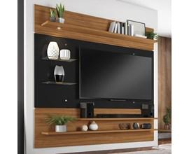 Painel Nt 1010 Para Tv Até 60 Polegadas Freijó Trend e Preto Notável Móveis