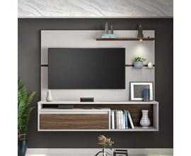 Painel Nt 1090 Para Tv Até 60 Polegadas Off White e Nogal Notável Móveis
