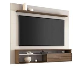 PAINEL NT 1100 PARA TV ATÉ 60 POLEGADAS OFF WHITE E NOGAL NOTÁVEL MÓVEIS