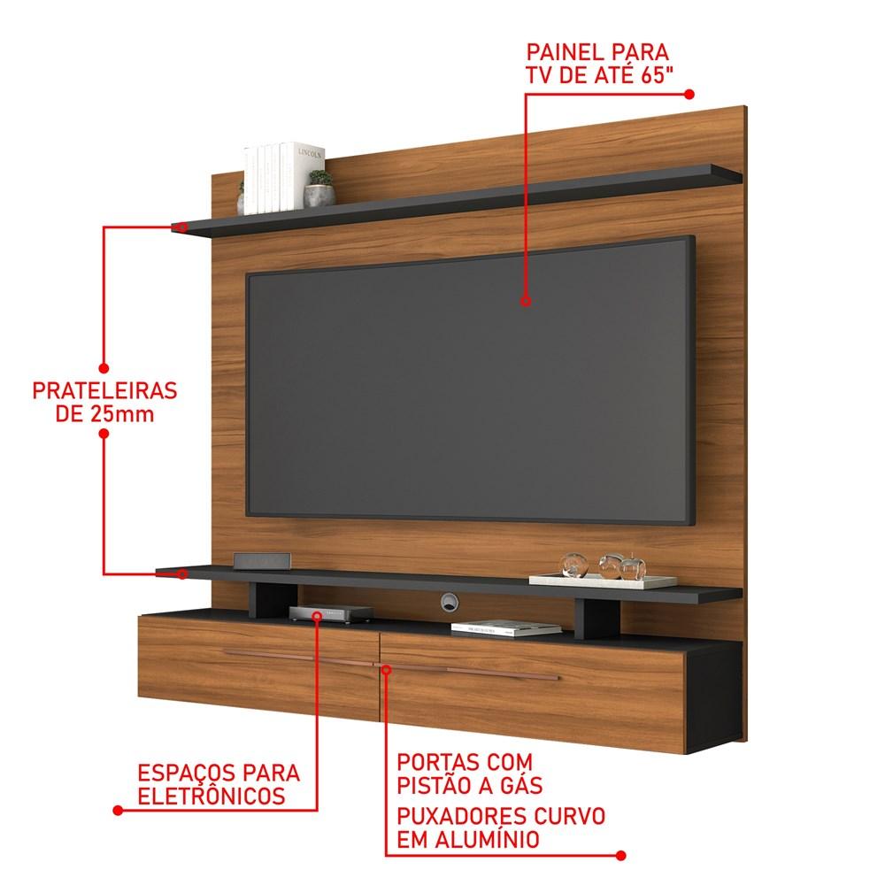 Painel Nt 1110 Para Tv Até 60 Polegadas Freijó Trend Notável Móveis