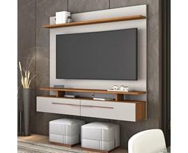 Painel Nt 1110 Para Tv Até 60 Polegadas Off White e Freijó Notável Móveis