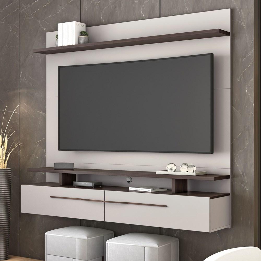 Painel Nt 1110 Para Tv Até 60 Polegadas Off White e Malbec Notável Móveis