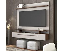 Painel Nt 1110 Para Tv Até 60 Polegadas Off White e Nogal Notável Móveis