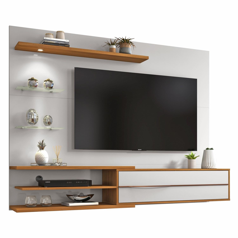 Painel Nt 1115 Para Tv Até 60 Polegadas Off White e Freijó Notável Móveis