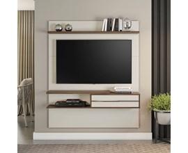 Painel para Tv até 55 Polegadas Off White e Nogal NT1155 Notável Móveis