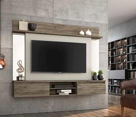 Painel para TV até 55 Polegadas Tannat Canela/Areia Notável Móveis