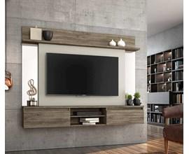 Painel Para Tv Até 55 Polegadas Tannat Canela com Areia Notável Móveis