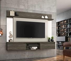 Painel para TV até 55 Polegadas Tannat Ébano/Areia Notável Móveis