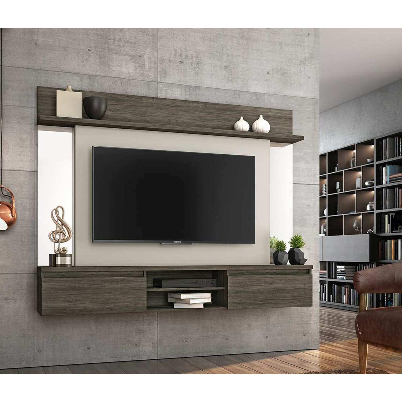 Painel Para Tv Até 55 Polegadas Tannat Ébano com Areia Notável Móveis