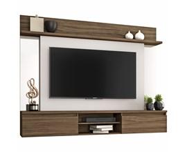 Painel Para Tv Até 55 Polegadas Tannat Nogal Trend Notável Móveis