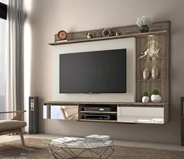 Painel para TV até 60 Polegadas Bellagio Canela/Areia Notável Móveis