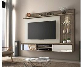 Painel para TV até 60 Polegadas Bellagio Canela com Areia Notável Móveis