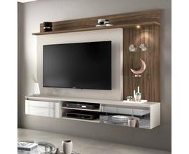 Painel Para Tv Até 60 Polegadas Bellagio Nogal Trend Notável Móveis