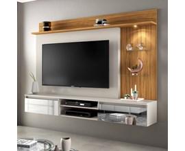 Painel Para Tv Até 60 Polegadas Bellagio Off White com Freijó Trend Notável Móveis