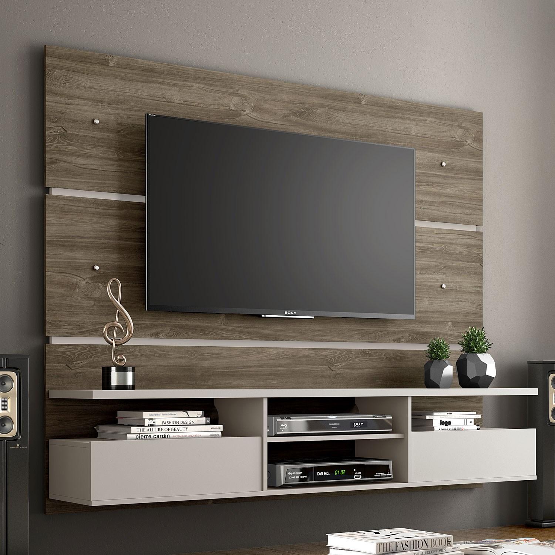 Painel para TV até 60 Polegadas com 2 Portas Canela com Areia NT1015 Notável Móveis