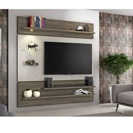 Painel para TV até 60 Polegadas com Prateleira de Vidro Canela com Areia NT1010 Notável Móveis
