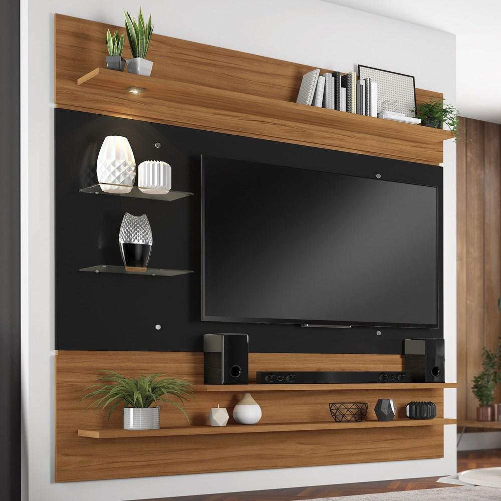 Painel para Tv até 60 Polegadas Freijó Trend e Preto NT1010 Notável Móveis