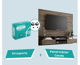 Painel Para Tv Até 60 Polegadas Master Canela e Suporte Para Tv Notável Móveis