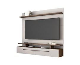 Painel para Tv até 60 Polegadas Off White e Nogal NT1110 Notável Móveis